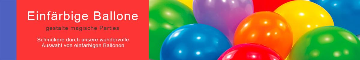 Einfärbige Ballone