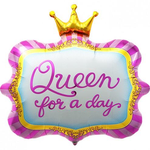 Folienballon Queen for a day 58cm