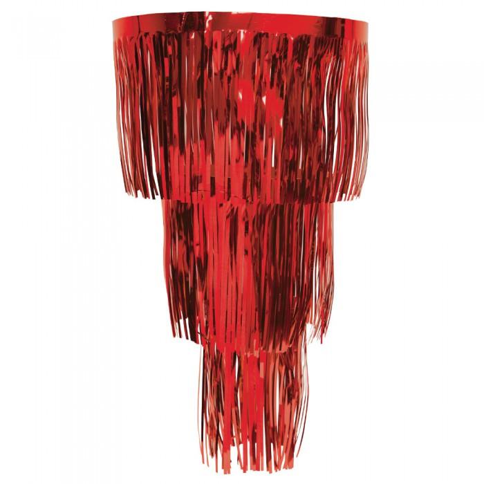 lametta deko kronleuchter rot. Black Bedroom Furniture Sets. Home Design Ideas