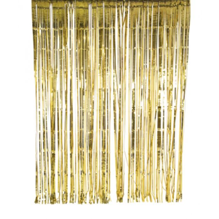 lametta vorhang gold 2 x 2m. Black Bedroom Furniture Sets. Home Design Ideas