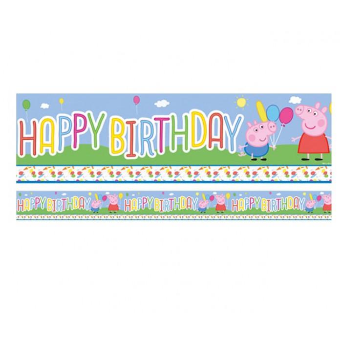Peppa Pig Banner Peppa Pig Birthday Banner By: Banner Peppa Pig Happy Birthday 3,65m