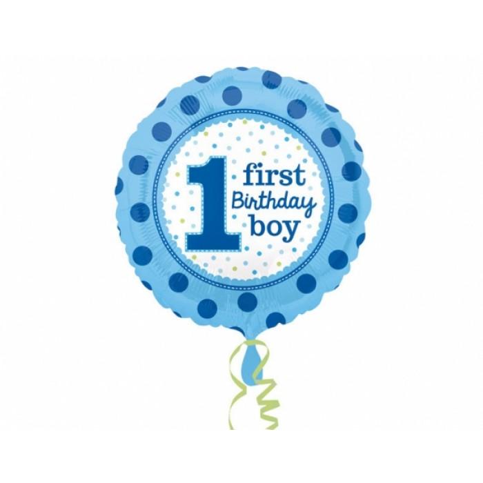 Folienballon 1 First Birthday Boy 43cm