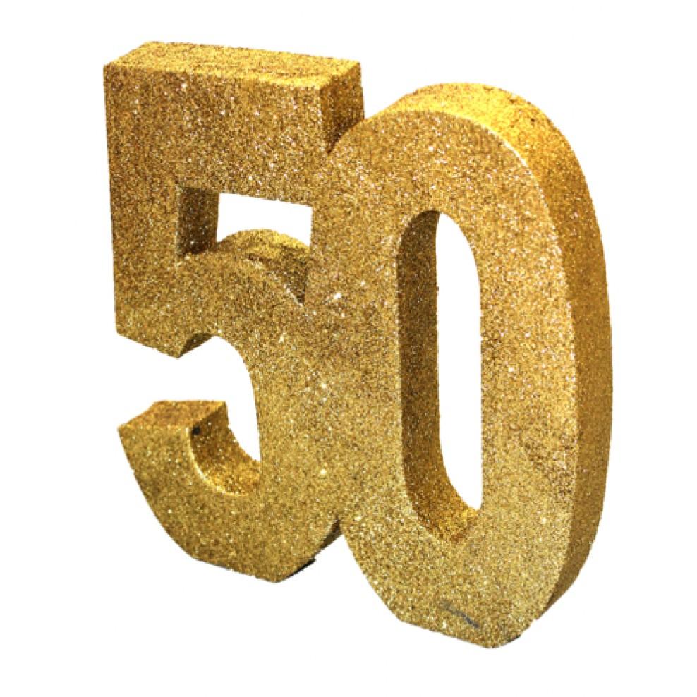 Tisch Deko 50 Geburtstag Gold