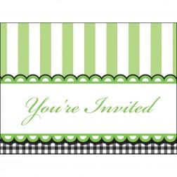 Einladungskarten grün 8 Stück