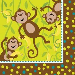 Monkey - 16 Servietten