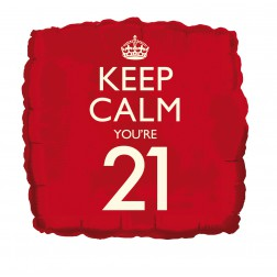 Keep Calm 21 Folienballon