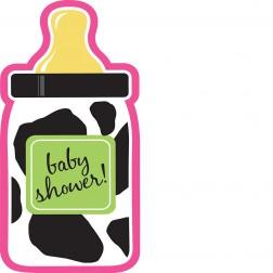 Baby Cow Girl - 8 Einladungskarten