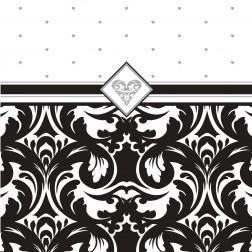 Servietten Black & White Party 16 Stück 33 x 33cm