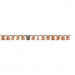 Kühner Ritter Happy Birthday Banner 2,4m