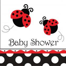 Servietten Marienkäfer - Baby Shower 16Stück