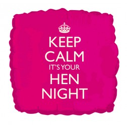Keep Calm It´s Your Hen Night Folienballon