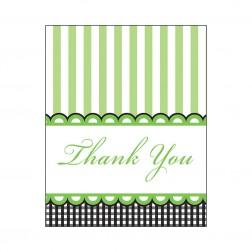Dankeskarte - Thank You Cards grün 8 Stück