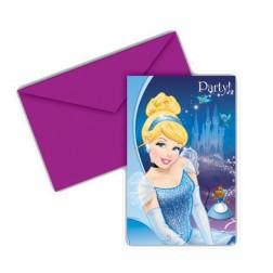 Cinderella Einladungskarten 6Stück