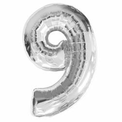 Folien Ballon - Silber Nr 9