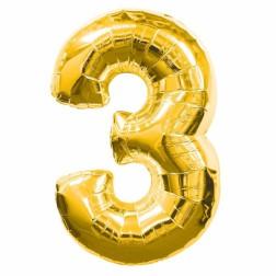 Folien Ballon - Gold Nr 3