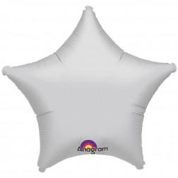 Stern Folienballon Silber 45cm