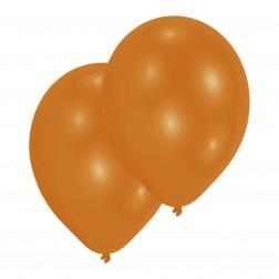Luftballons Metallic Mandarin Orange 10 Stück