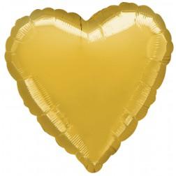Herz Folienballon Gold 45cm