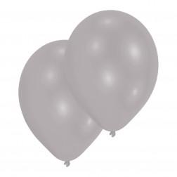 Luftballons Metallic Silber 10 Stück