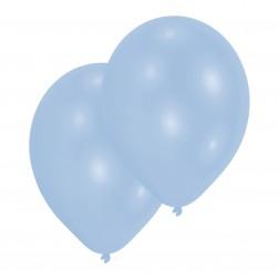 Luftballons Pastellblau 10 Stück