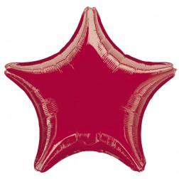 Stern Folienballon Rot 48cm