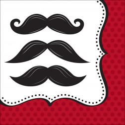 Servietten Mustache 16 Stück