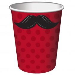 Pappbecher Mustache 8 Stück