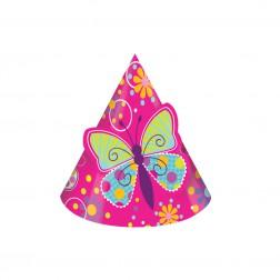 Partyhüte Schmetterling 8 Stück