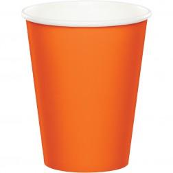 Pappbecher Orange 8 Stück