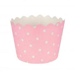 Mini Backförmchen Polka Dots Rosa 12Stück