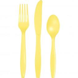 Plastikbesteck Gelb 24Teilig