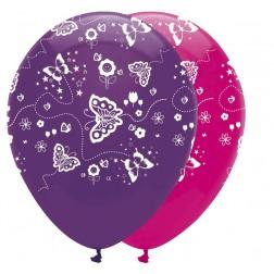Luftballons Schmetterlinge 6 Stück