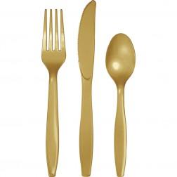 Plastikbesteck Gold 24Teilig