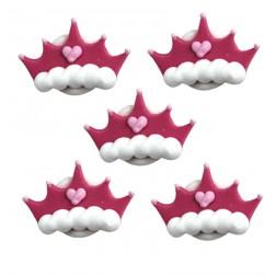 Zuckerdekor Prinzessinnen Kronen 5 Stück