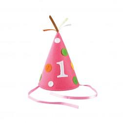 Partyhut Rosa 1.Geburtstag