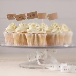 Cupcake Sticks mit Schleifen unbeschriftet 12Stück