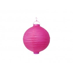 Kabellose Garten Papier Lampion pink 20cm