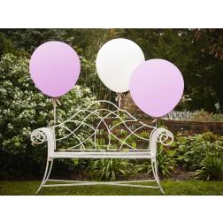 Riesenballone Rosa, Weiß 3Stück