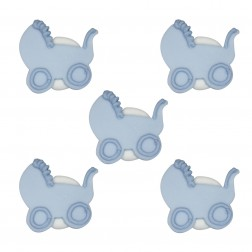 Zuckerdekor Kinderwagen Blau 5 Stück