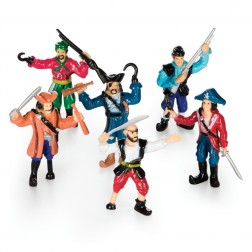 Piratenfiguren Set  6-teilig
