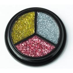 Trio Glitter silber, gold, pink