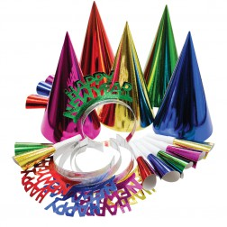Silvester Party Box Bunt für 10 Personen