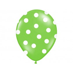 Luftballone Polka Dots Limettengrün 6Stück