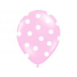 Luftballone Polka Dots Rosa 6Stück