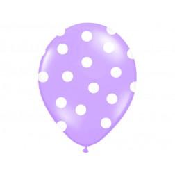 Luftballone Polka Dots Lavendel 6Stück