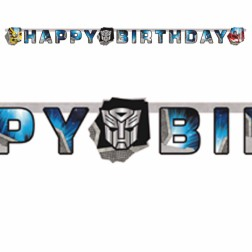 Transformers Happy Birthday Banner 1,80m