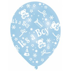 Luftballons It's a Boy Babyshower 6 Stück