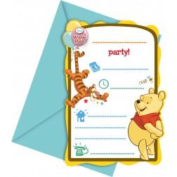 Winnie the Pooh Einladungskarten 6Stück
