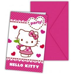 Hello Kitty Einladungskarten 6Stück