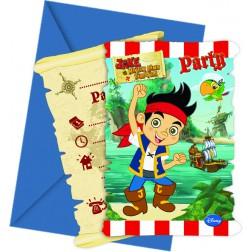 Jake Yo Ho Einladungskarten 6Stück